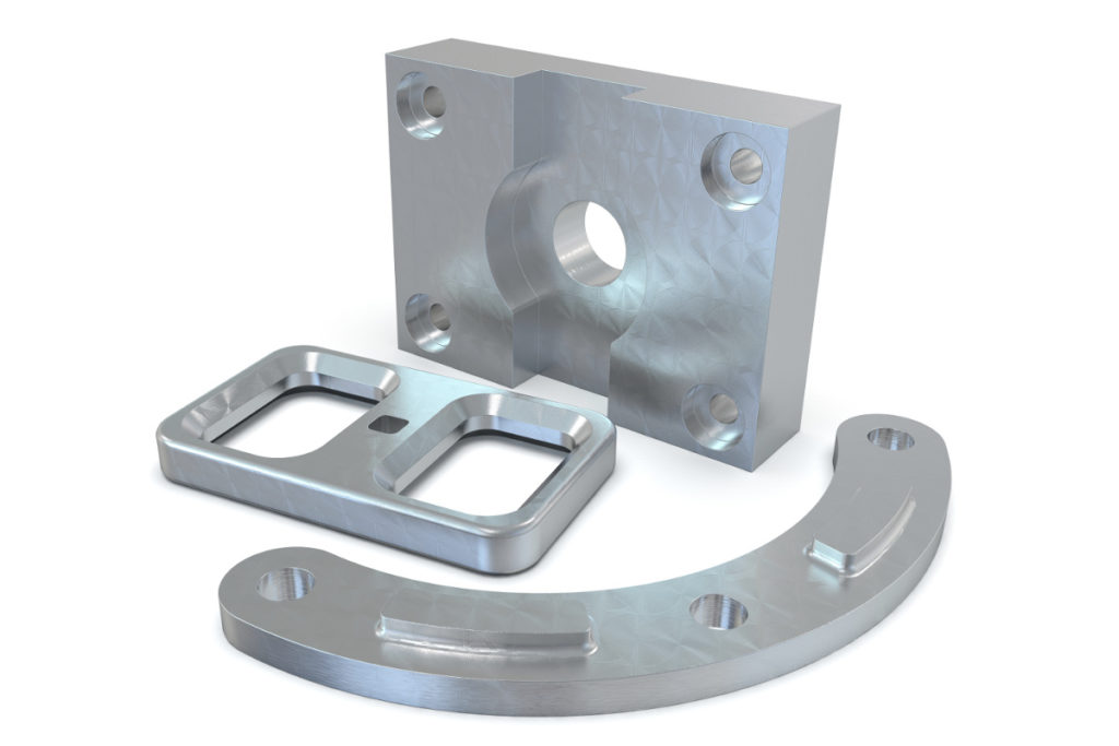 3-axis milled parts